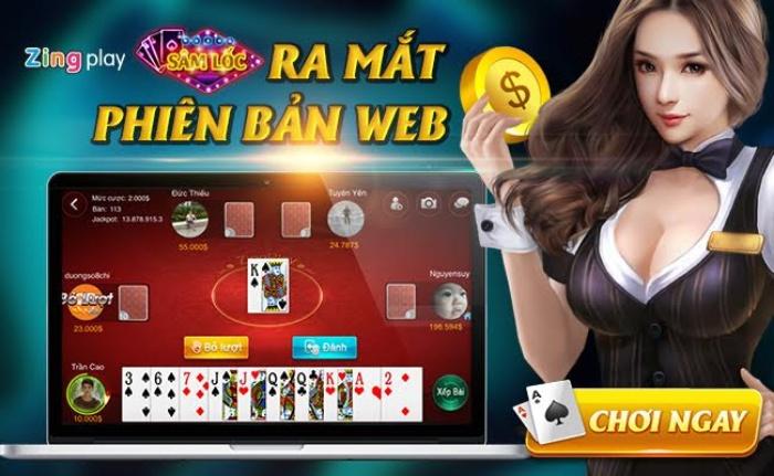 Game đánh bài online miễn phí trên app ZingPlay