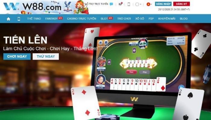 Game đánh bài tiến lên online W88