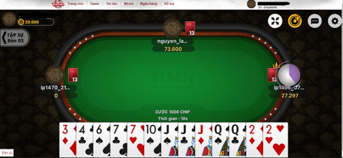 Game tiến lên miền nam online Thapthanh