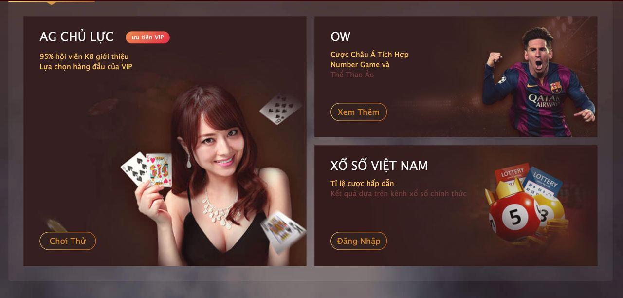 Trang casino online uy tín K8